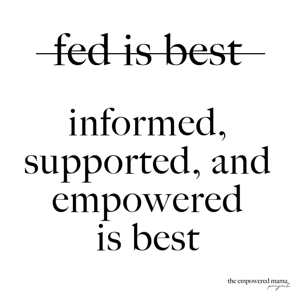 Have you heard the term 'fed is best'? Often used to describe how we feed our babies, but we need to stop saying it. It can actually cause more harm.