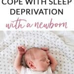 Transitioning to life with a newborn can be a challenge, especially when you add in sleep deprivation - the kind of tired that you feel all through your body. This one thing helped me cope with sleep deprivation through two no so sleepy babies, and made me feel much better about motherhood.