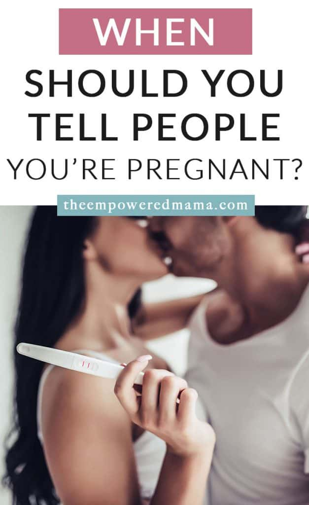 When you find our you're pregnant, you want to share your excitement with everyone! But when should you tell people you're pregnant? And should you wait until it's 'safe' before you tell people?